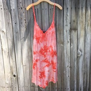 NWT Forever 21 Tie Dye Romper Coral 3X